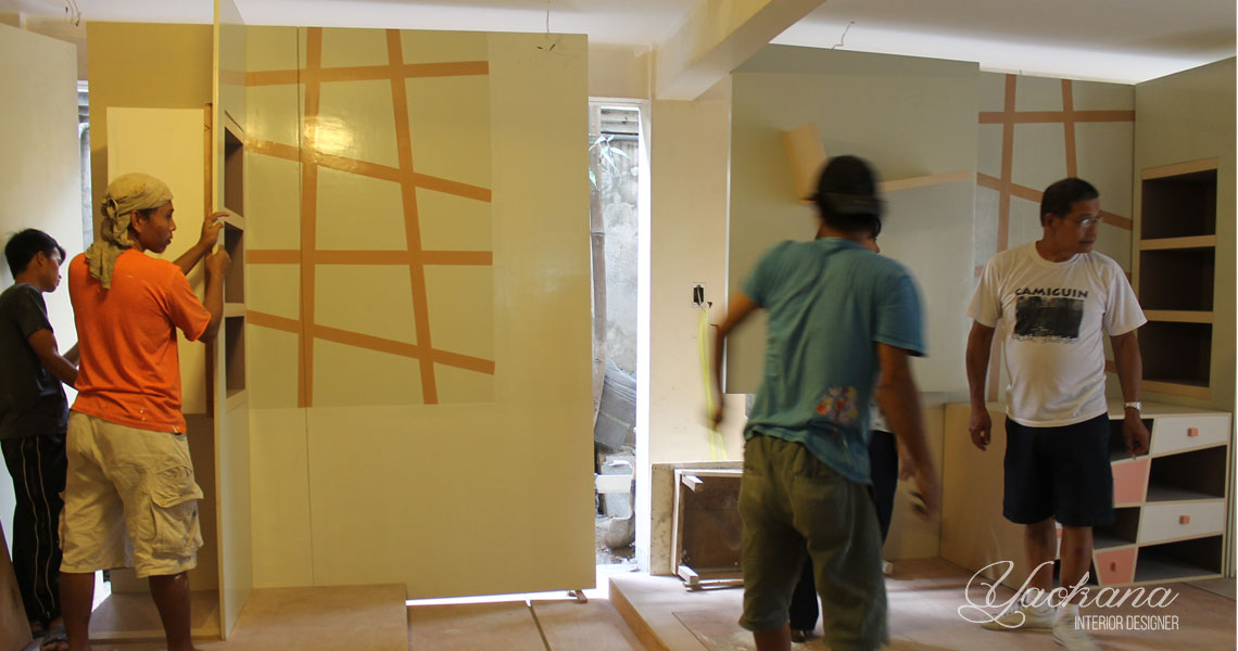 Exhibit booth construction